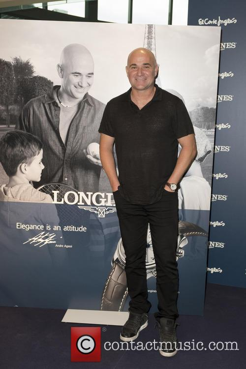 Andre Agassi attends a promo act of the...