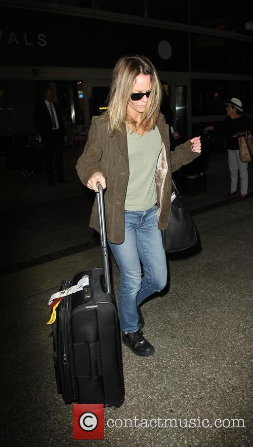 Vanessa Paradis arrives into LAX airport