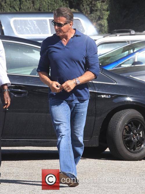 Sylvester Stallone out in Beverly Hills, California