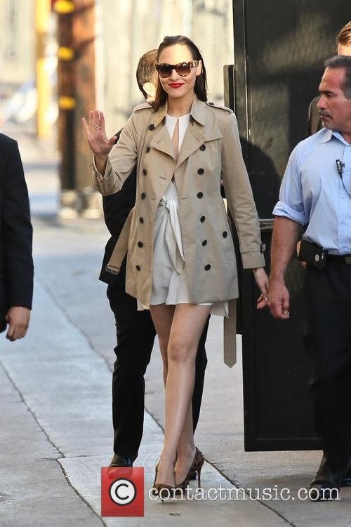 Gal Gadot seen arriving at the ABC studios