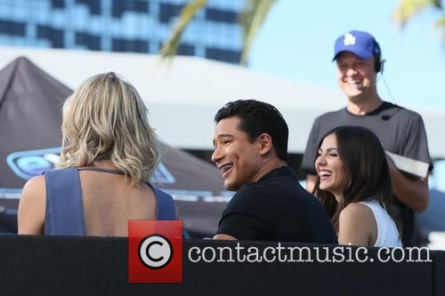 Victoria Justice, Charissa Thompson and Mario Lopez