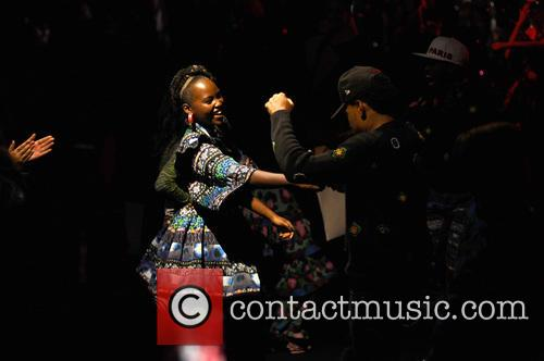 Lupita Nyong'o and Chance The Rapper 3