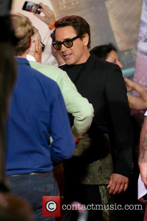 Robert Downey Jr. and Stan Lee 7