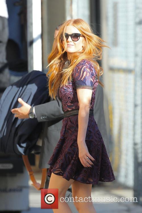 Isla Fisher seen arriving at the ABC studios