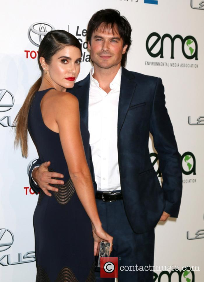 Ian Somerhalder and Nikki Reed pictured together at the Environmental Media Awards