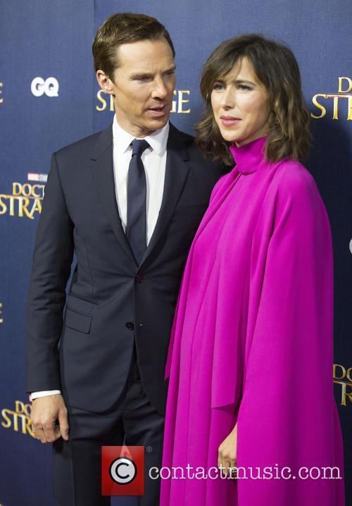 Benedict Cumberbatch at the premier of Dr. Strange