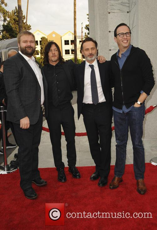 Robert Kirkman, Norman Reedus, Andrew Lincoln and Charlie Collier 1