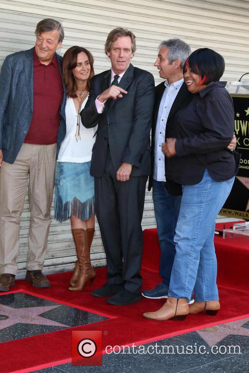 Stephen Fry, Diane Farr, Hugh Laurie, David Shore and Jean Mcclain Aka Pepper Mashay 1