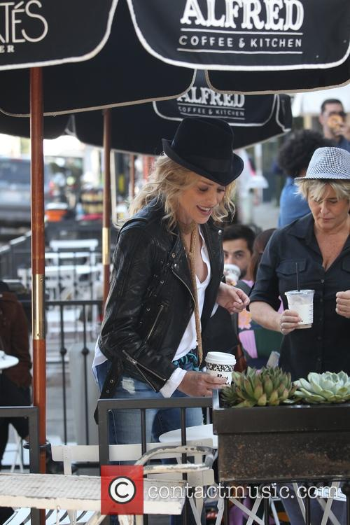 Sharon Stone at Alfred's cafe