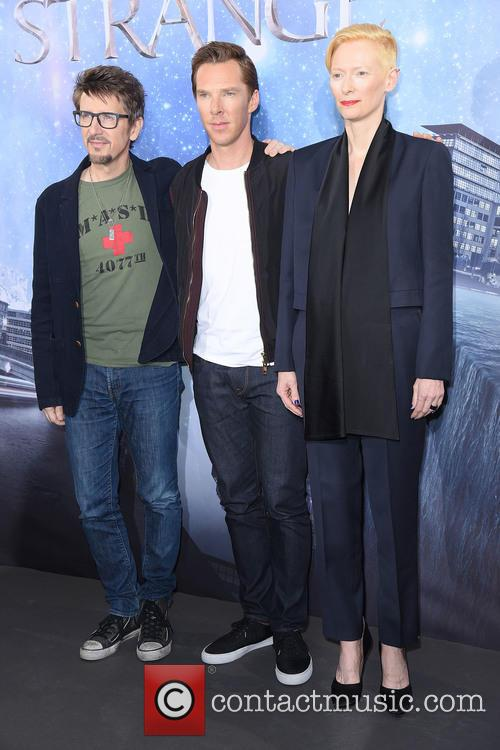 Scott Derrickson, Tilda Swinton and Benedict Cumberbatch 10