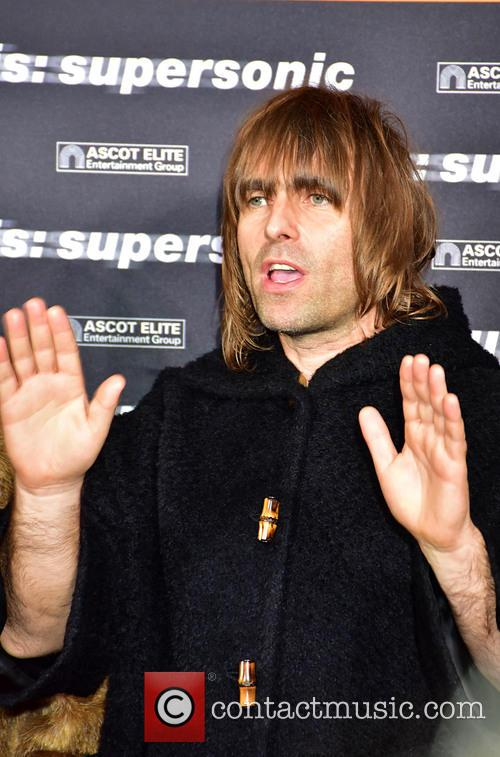 Liam Gallagher on the red carpet at the 'Oasis: Supersonic' premiere
