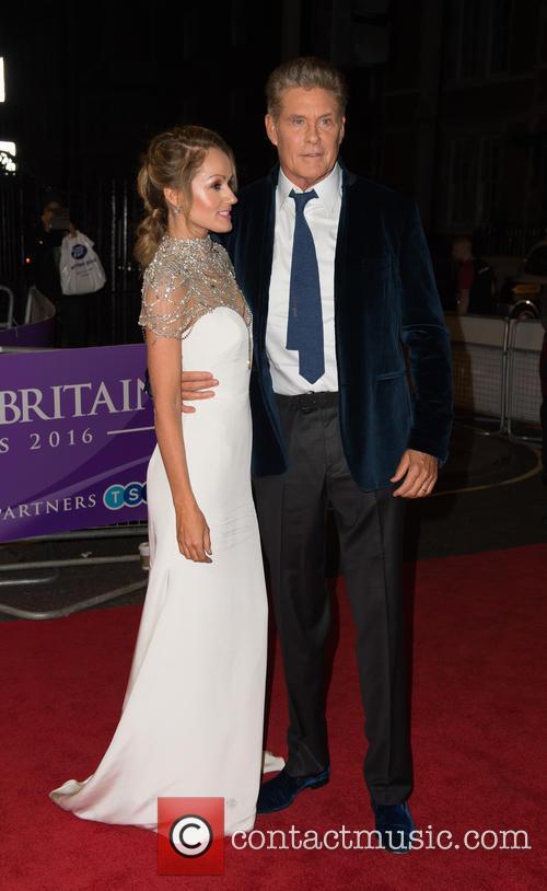 Hayley Roberts and David Hasselhoff 1