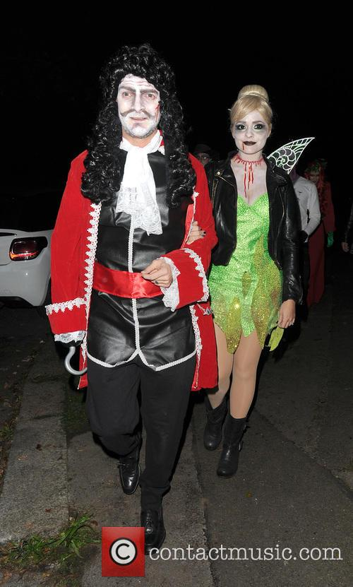 Celebrities attend the annual Halloween party held at...