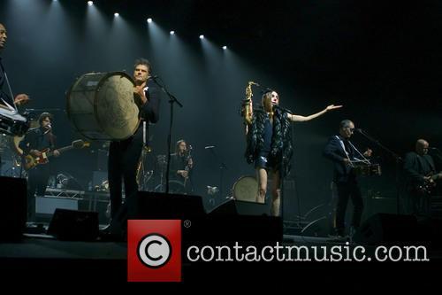 PJ Harvey performing live in concert
