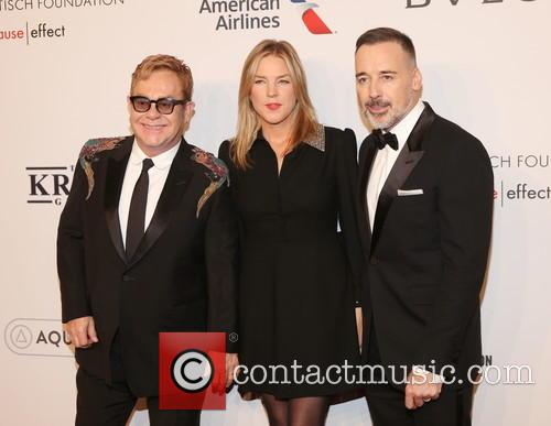 Sir Elton John, ­­­­­­­­­­­­­diana Krall and David Furnish 2