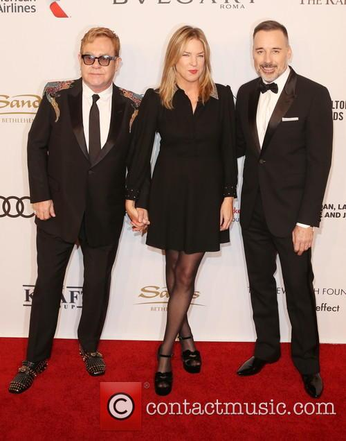 Sir Elton John, ­­­­­­­­­­­­­diana Krall and David Furnish 4