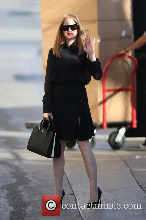 Jessica Chastain seen arriving at the ABC studios
