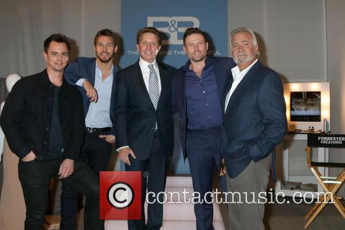 Darin Brooks, Scott Clifton, Bradley Bell, Jacob Young and John Mccook