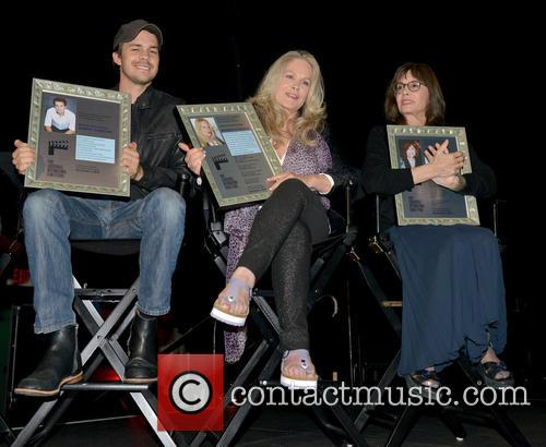 Johnny Simmons, Beverly D'angelo and Talia Shire 6