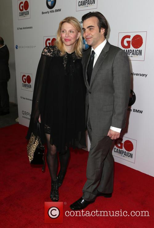 Courtney Love and Nicholas Jarecki 2