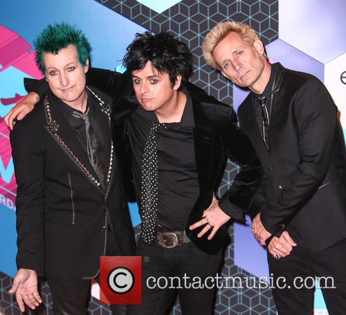 Green Day, Billie Joe Armstrong, Mike Dirnt, Tré Cool and Tre Cool 9