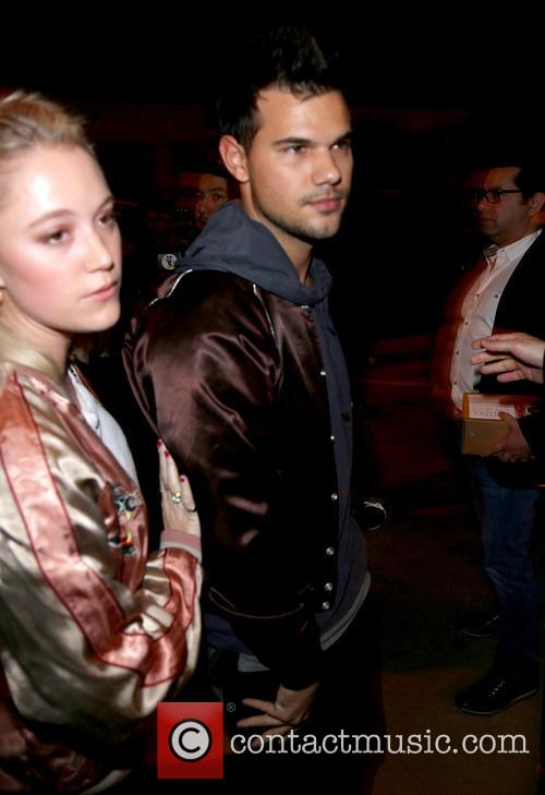 Taylor Lautner and girlfriend at Catch