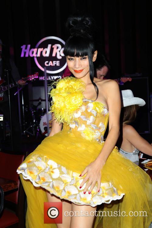 Bai Ling at the Hard Rock Cafe