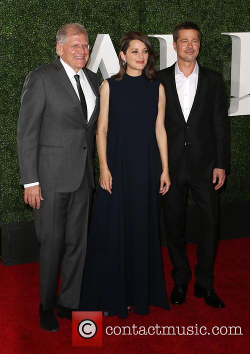 Robert Zemeckis, Marion Cotillard and Brad Pitt 1