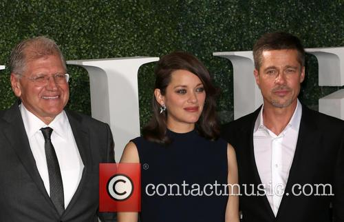 Robert Zemeckis, Marion Cotillard and Brad Pitt 2