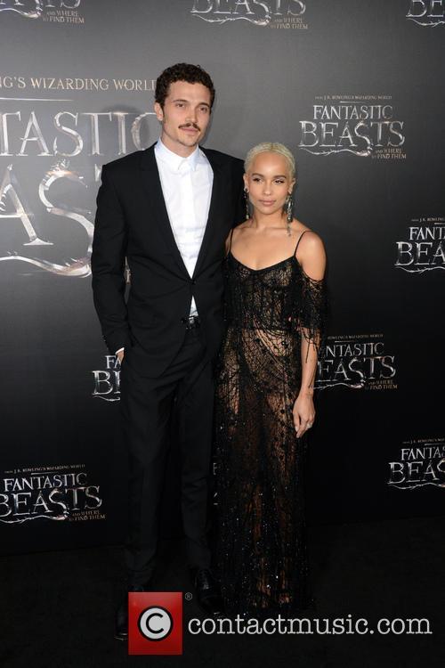 Karl Glusman and Zoe Kravitz