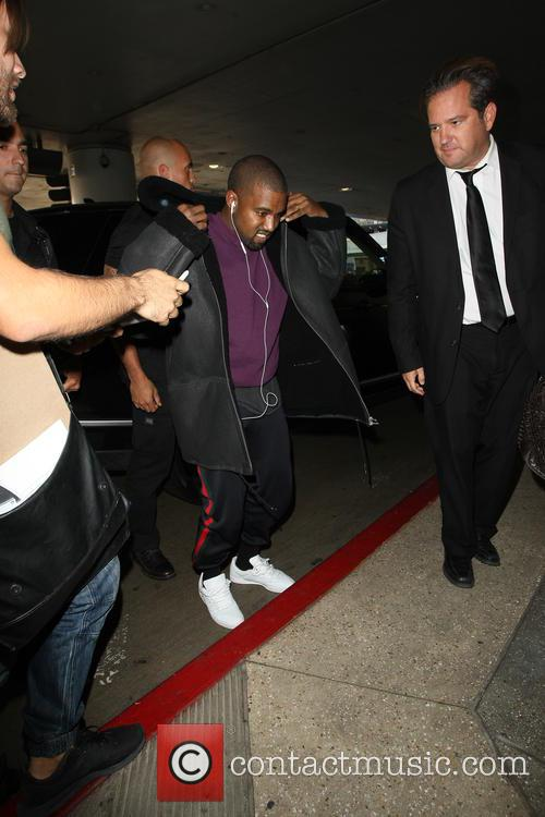 Kanye West departs from LAX