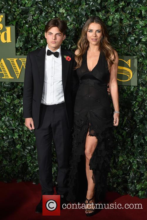 Elizabeth Hurley and Son 1