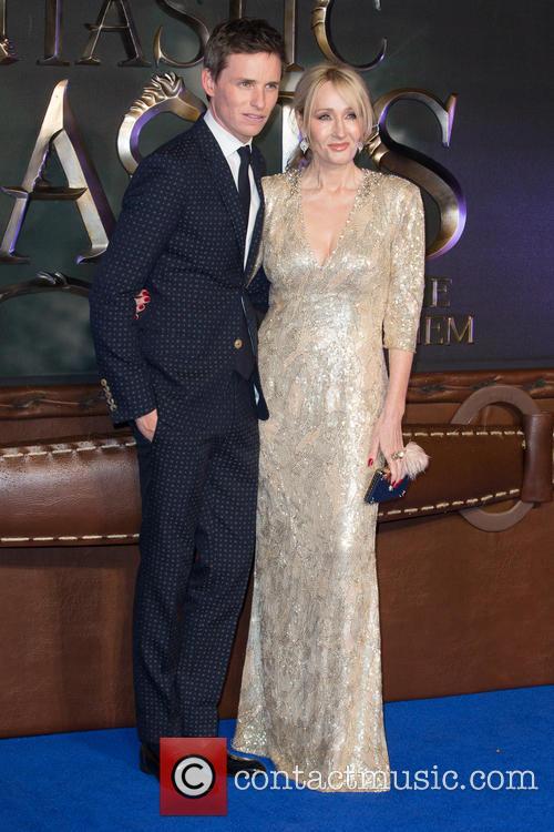 Eddie Redmayne and J.k. Rowling 4