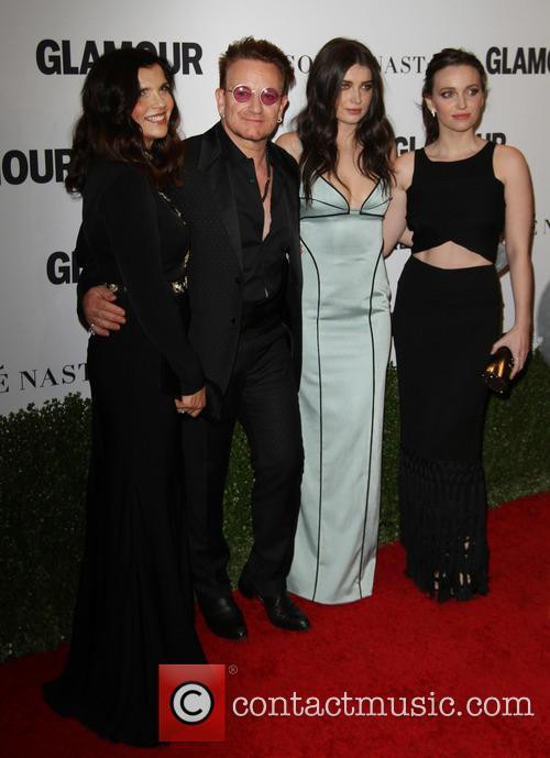 Bono, Wife Alison Hewson, Daughters Eve Hewson and Jordan Hewson 5