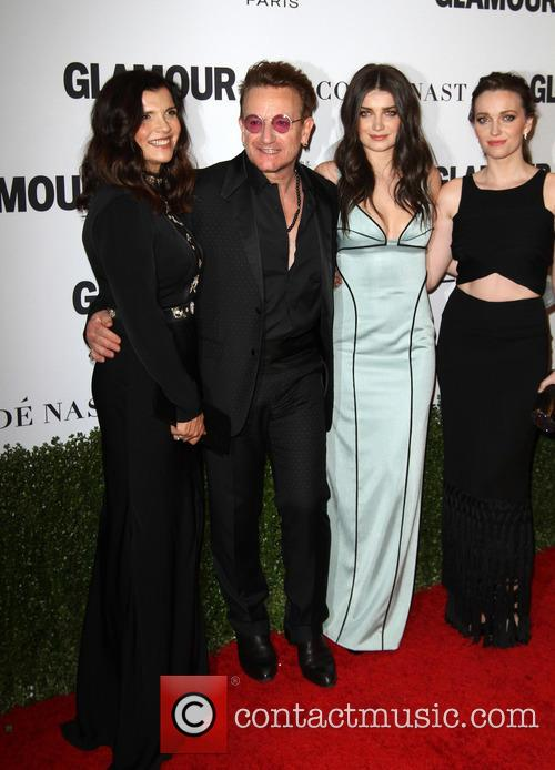 Bono, Wife Alison Hewson, Daughters Eve Hewson and Jordan Hewson 9