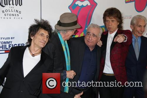 Mick Jagger, Keith Richards, Ronnie Wood, Charlie Watts and Martin Scorsese 8