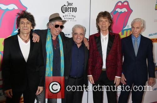 Mick Jagger, Keith Richards, Ronnie Wood, Charlie Watts and Martin Scorsese 10
