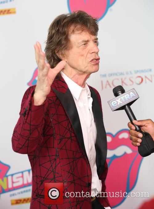 Mick Jagger at The Rolling Stones: Exhibitionism opening