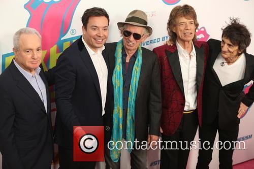 Lorne Michael, Jimmy Fallon, Kieth Richards, Mick Jagger and Ronnie Wood 1