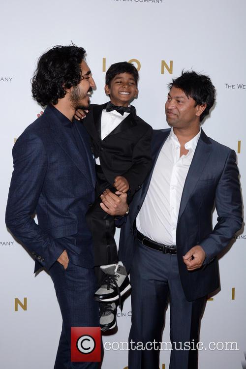 Dev Patel, Sunny Pawar and Saroo Brierley 1
