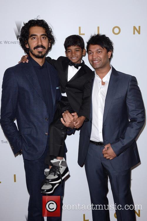 Dev Patel, Sunny Pawar and Saroo Brierley 3