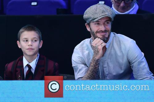 David Beckham and Romeo Beckham 1