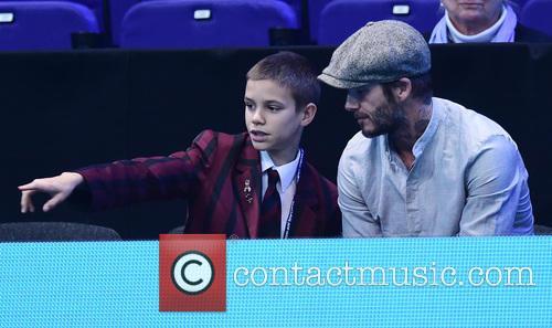 David Beckham and Romeo Beckham 3