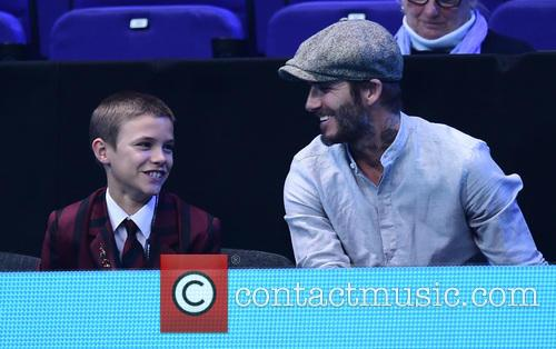 David Beckham and Romeo Beckham 4