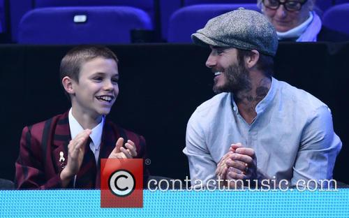 David Beckham and Romeo Beckham 6