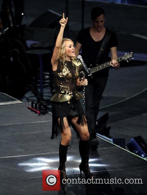 Carrie Underwood performs live in Las Vegas