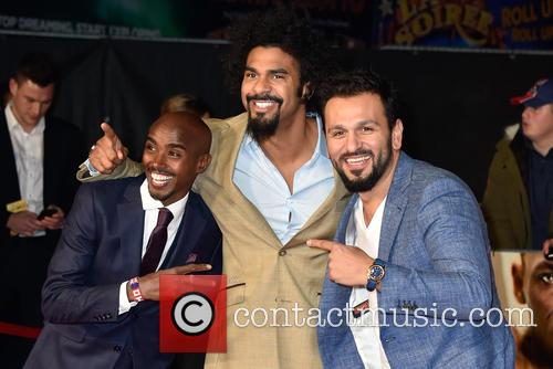 Mo Farah, David Haye and Joe Fournier