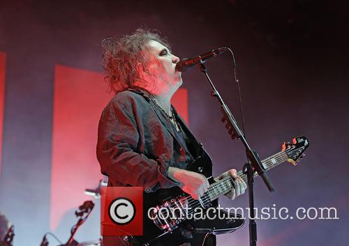The Cure performing live in Manchester