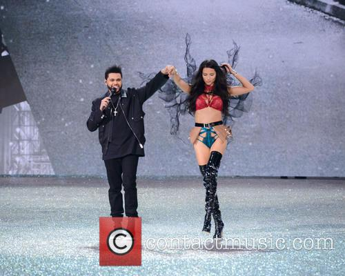 The Weeknd and Adriana Lima 2