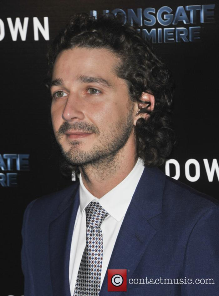 Shia LaBeouf at 'Man Down' premiere